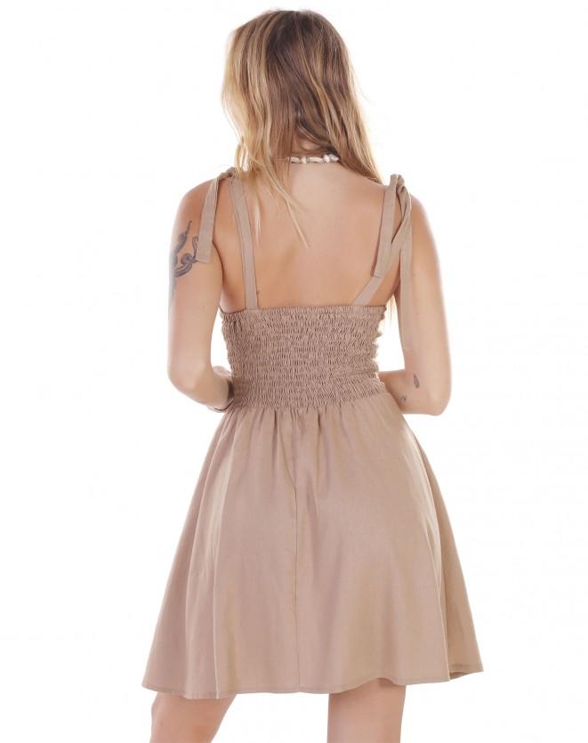 Vestido de Alça com Fivela