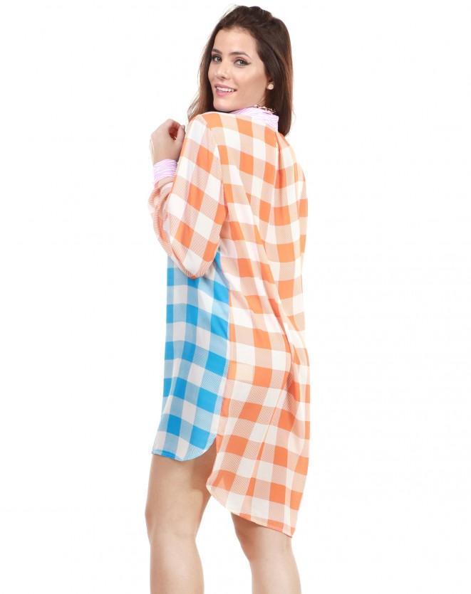Vestido chemisie estampado