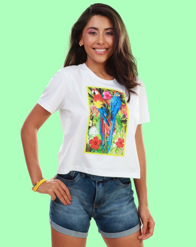 T-shirt frontal tropical