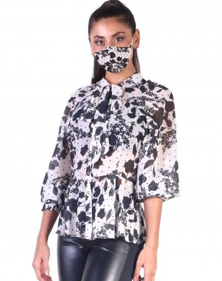 Camisa Gravata + Máscara Estampadas