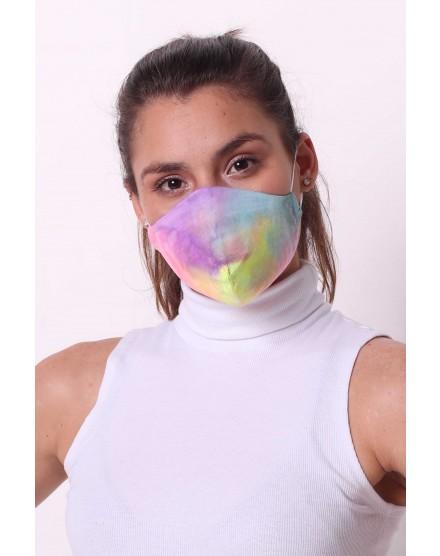 Mascara Tie Dye Dupla 100% Algodão