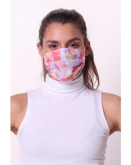 Kit De 100 Mascaras TNT Tripla Estampa Tie Dye